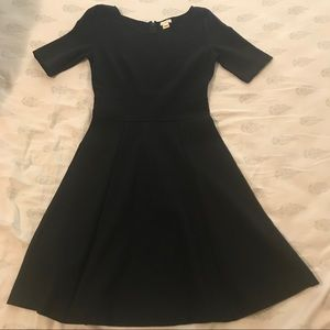 J Crew Black Fit and Flare Dress